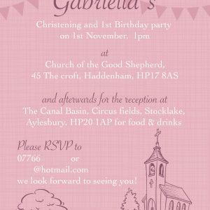 Christening Invitation Haddenham