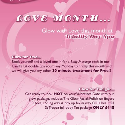 Day Spa Valentines Day Poster